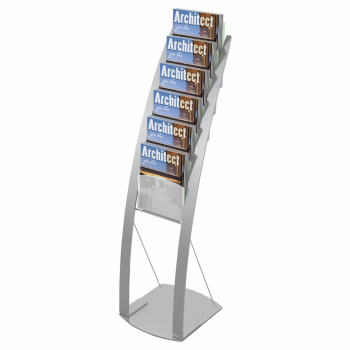 6 Pocket Magazine Floor Stand