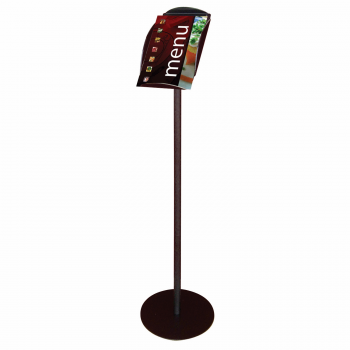 Magazine Literature Tray Floor Stand