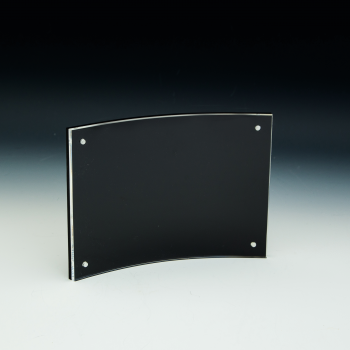 Curved Sign Holder w/ Black Back - 7x5